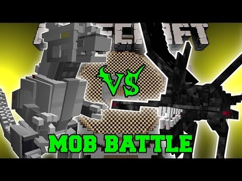 KIRYU (MECHAGODZILLA) VS NIGHTMARE - Minecraft Mob Battles -