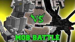 KIRYU (MECHAGODZILLA) VS NIGHTMARE - Minecraft Mob Battles - Godzilla Mods