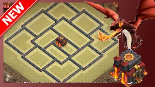 Base Build Of The Royale Fort | Top Tier Th10 War Base! Anti Gowiwi | Clash Of Clans (CoC)