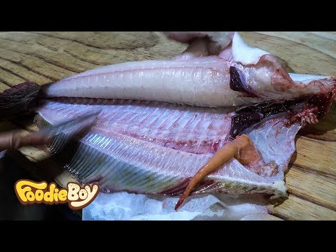 Sliced Raw Flatfish 4kg / Korean Street Food / Noryangjin Fish Market, Seoul Korea