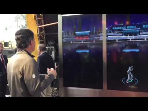 Liked on YouTube: Torrey Smith, Steve Bono Play High-Tech Super Bowl City Game #SB50
