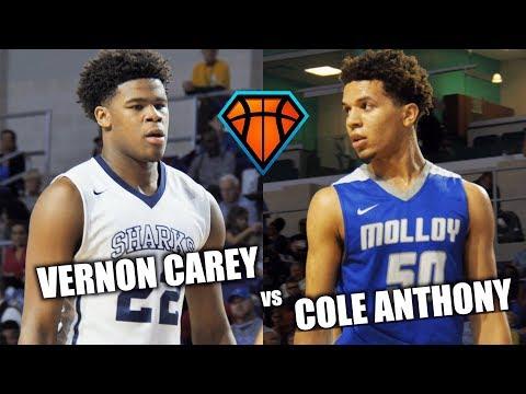 2019's BEST BATTLE IT OUT!!   Vernon Carey & USchool vs Cole Anthony & Archbishop Molloy