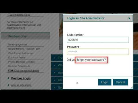 FTH Login as Administrator