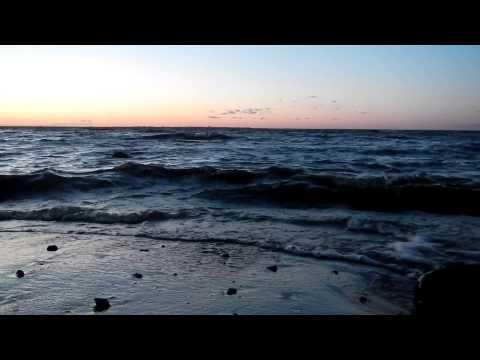 Relaxing Sounds Waves & Sunset Gulf of Finland Шум Прибоя Закат Релаксация Финский Залив Петергоф