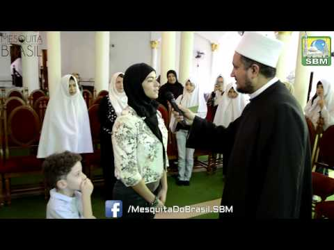 One more young Brazilian lady makes Shahada in Mesquita Brasil
