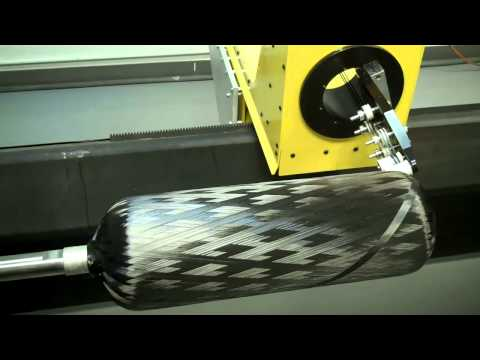 TCR Composites Towpreg Winding Demo