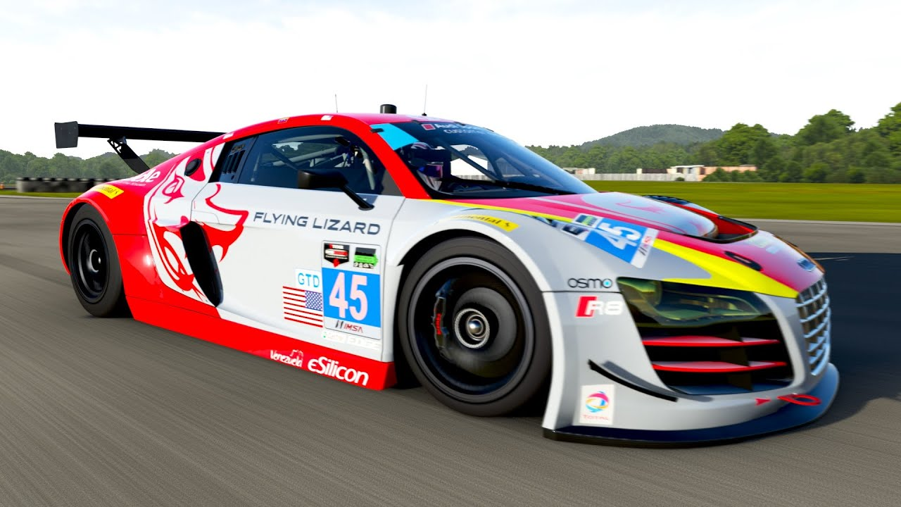 forza 6 2014 audi 45 flying lizard motorsports r8 lms ultra youtube. Black Bedroom Furniture Sets. Home Design Ideas