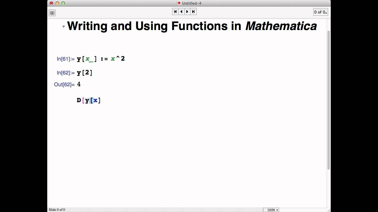 Writing and using your own functions in Mathematica - YouTube