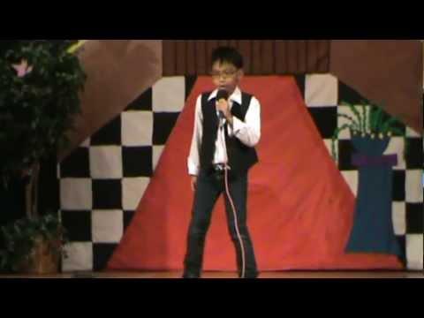"2012 Lakewood Elementary School Talent Show - Branden Bulatao singing ""DOWN""."