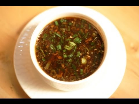 Indo chinese recipes manchow soup by sanjeev