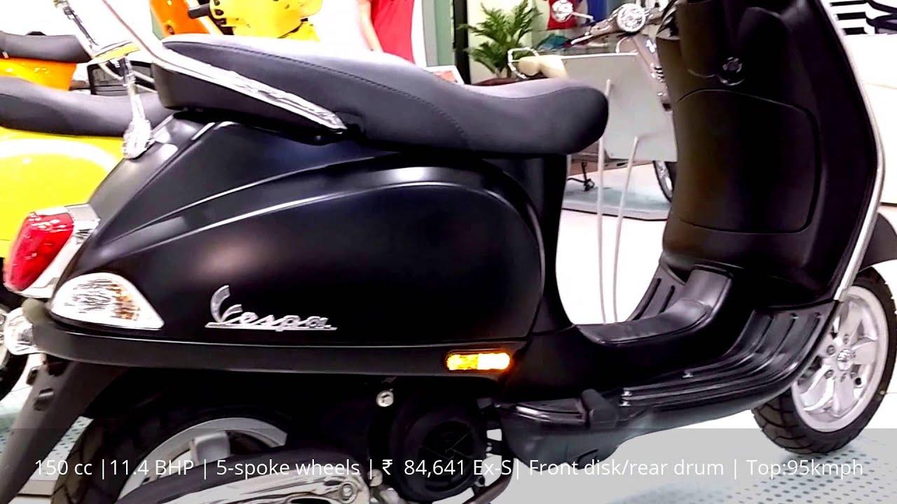 vespa vxl 150 black mate |showroom walk around | specifications