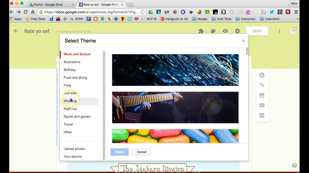 Change theme NEW Google Forms - YouTube