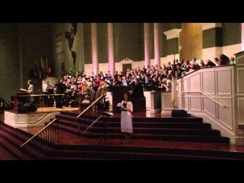 He Loved Me given by Lydia Scoggins and Temple Choir