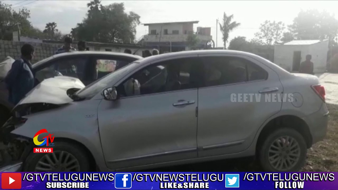 Car Accident in Guntur Narasaraopet Road|| GEE TV Telugu News