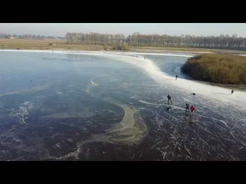 "Ice skating on ""de Banen"", Netherlands"
