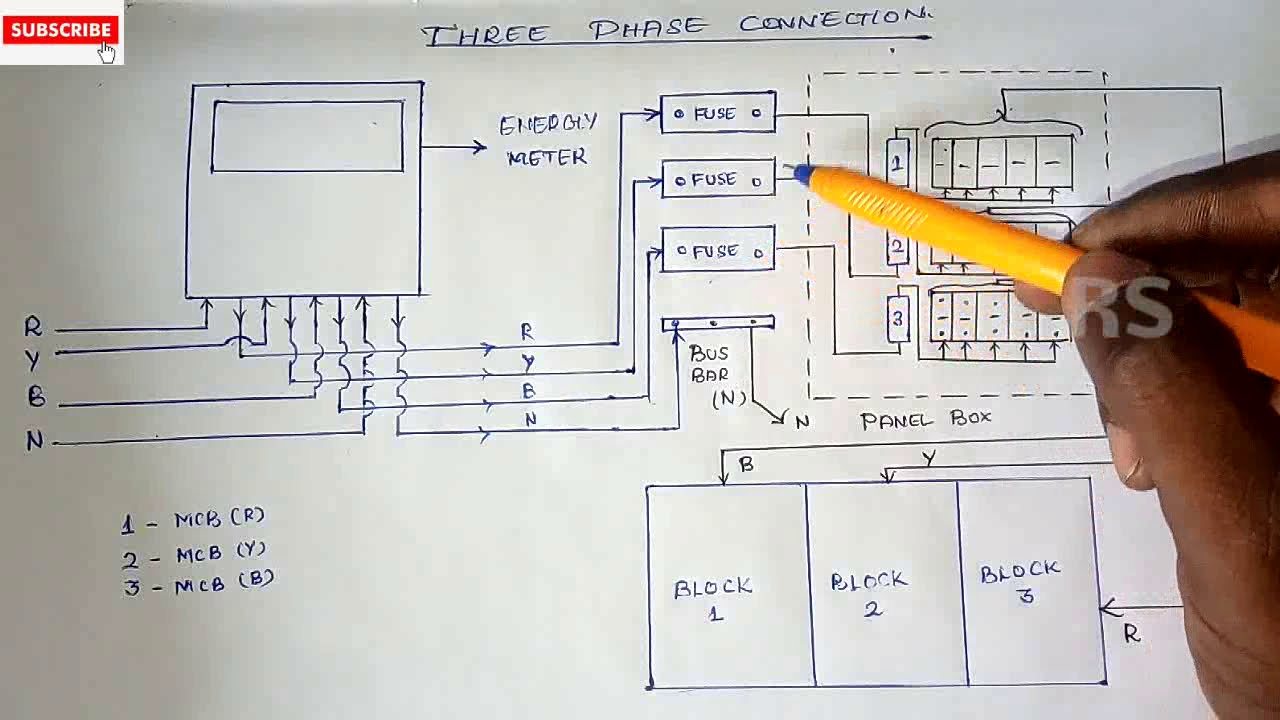 3 Phase Wiring Diagram Rs Electrical Tamil Channel Ramanan