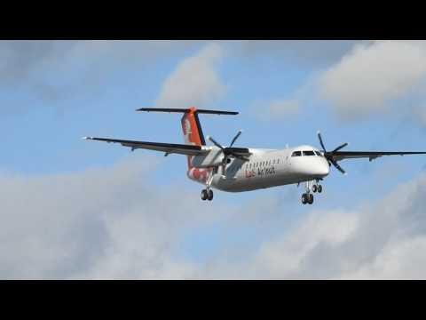 Air Inuit Dash 8 Landing At Montreal YUL/CYUL