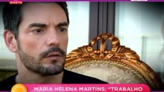 Maria Helena recebe Cláudio Ramos em sua casa