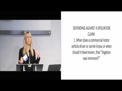 Colorado Commercial Motor Vehicle Law: How to Deal with Spoliation of Evidence