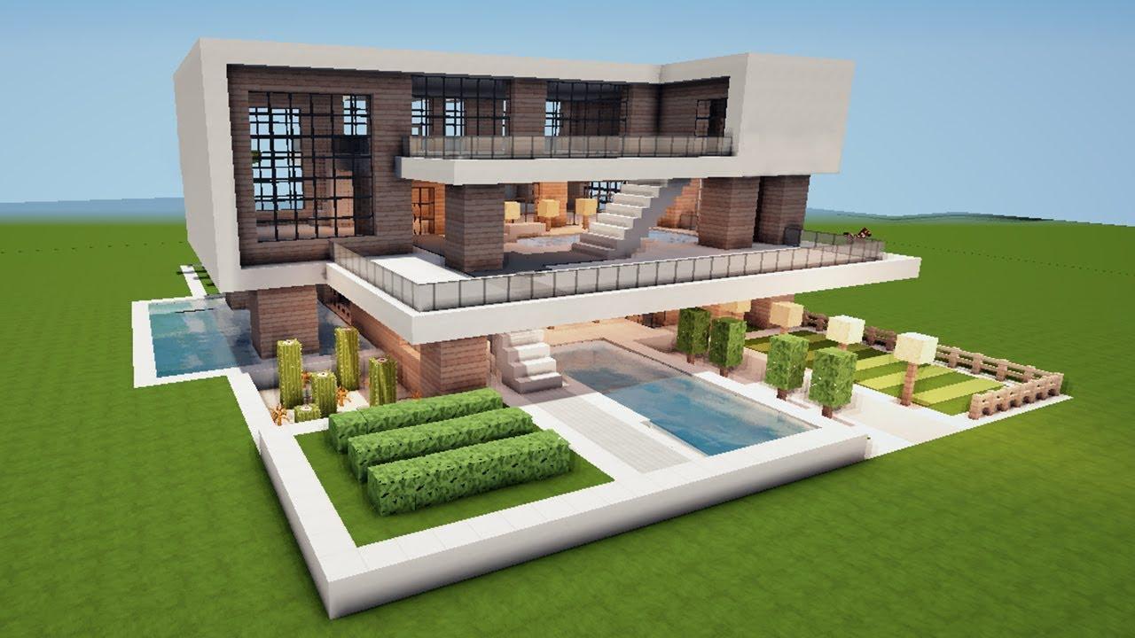 Minecraft Haus Bauen Modern