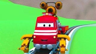 Vláček Troy a Rychlík ve Městě Aut/ Animák o autech a náklaďácích pro děti