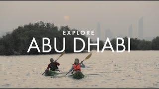 Kayaking through Abu Dhabi