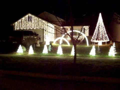 Best Christmas Light Display on a house in Plain City Ohio 2011