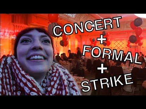 VLOG 1 | Free concert, Formal, & the Strike