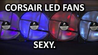 corsair af series led fans unboxing overview