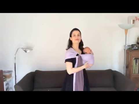cdf83cd1ab7 Porter bébé en PESN (petite écharpe sans noeud ) - YouTube