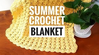 How to Crochet A Baby Blanket #1 ADORABLE, FAST & EASY�|☕THE CROCHET SHOP by NANNO