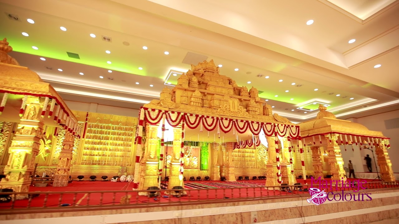 South Indian Wedding Decorations Youtube