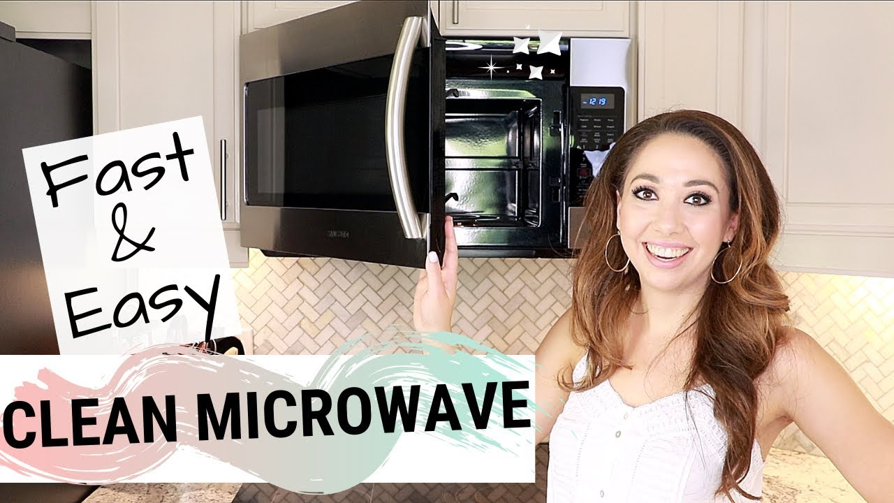 how to clean a microwave fast easy