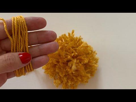 4 Dakikada Ponpon Yapımı / Make a Pompom in 4 minutes