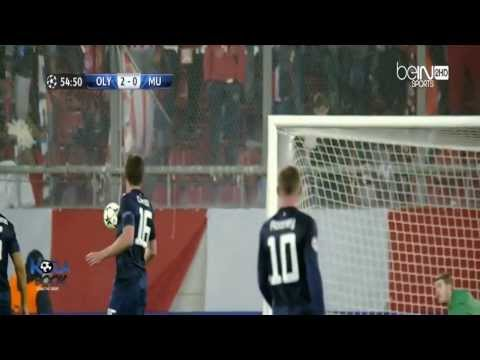 Olympiakos vs Manchester United 2-0 2014 Goals & Highlights 25-2-2014
