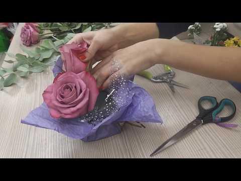 Цветочная мини-композиция. Flower mini-composition.