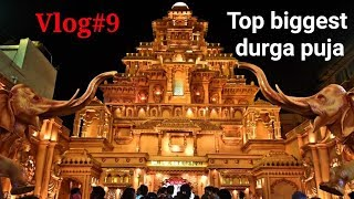 Vlog#9 happy durga puja friends || top biggest durga puja theme pandal 2018