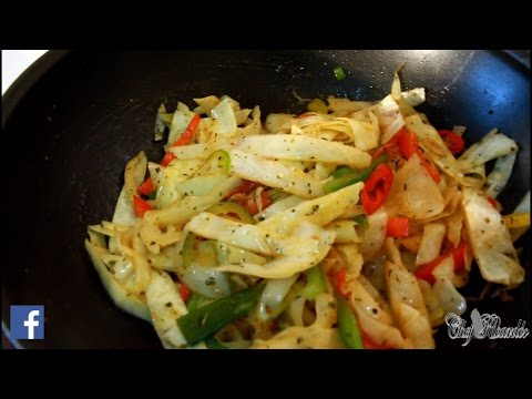 Stir Fry Cabbage | Jamaican & Caribbean | Recipes By Chef Ricardo