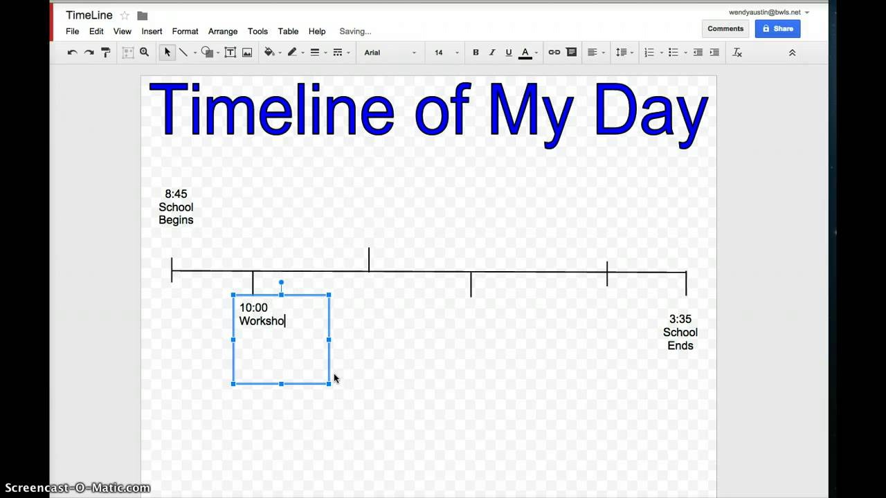 Timeline in Google Drawing - YouTube