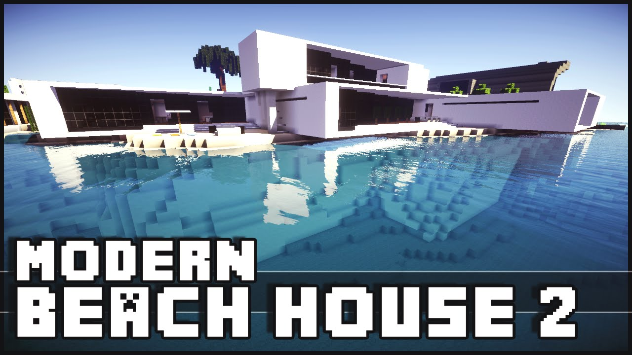 Minecraft Modern Beach House 2 YouTube