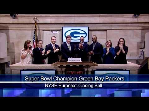 16 Feb 2011 The Super Bowl Champion Green Bay Packers Visit The NYSE Rang NYSE Closing Bell