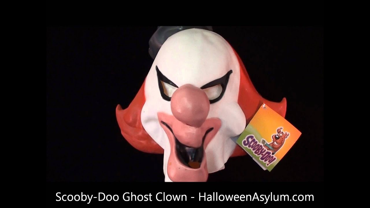 scoobydoo ghost clown mask halloweenasylumcom youtube