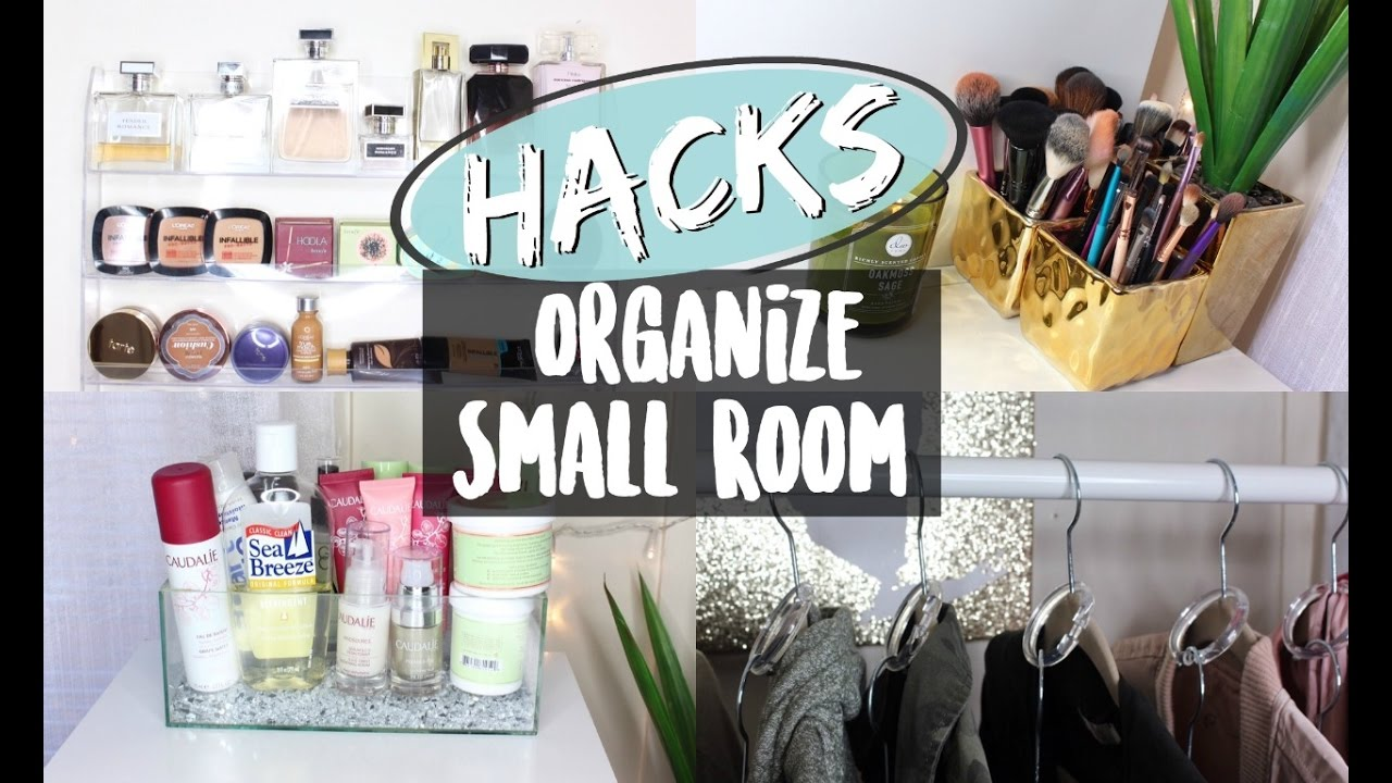 Hacks to organize a small room nyc apartment youtube for How to organize a small room