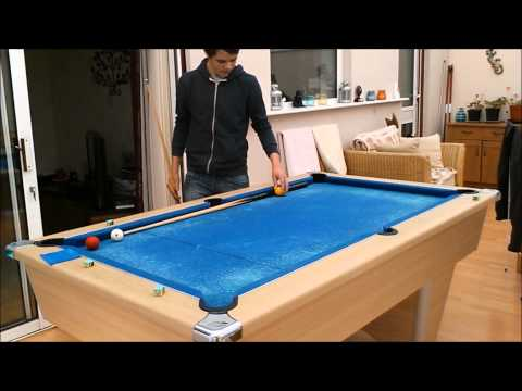 How To Do A Billiard Trick shot - Yellow And Red