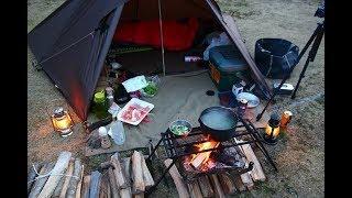 焚き火でしゃぶしゃぶ 久しぶりのキャンプ場でタープキャンプ DDTarp Camp