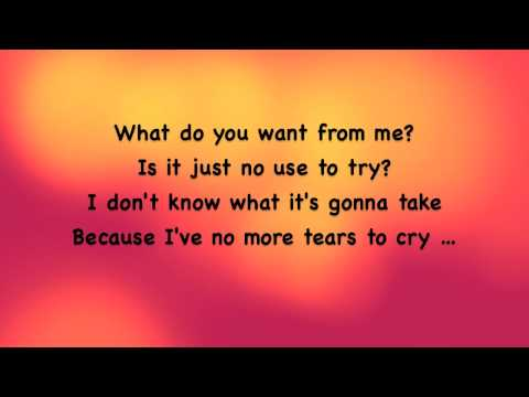 Rehab - What do you want from me lyrics