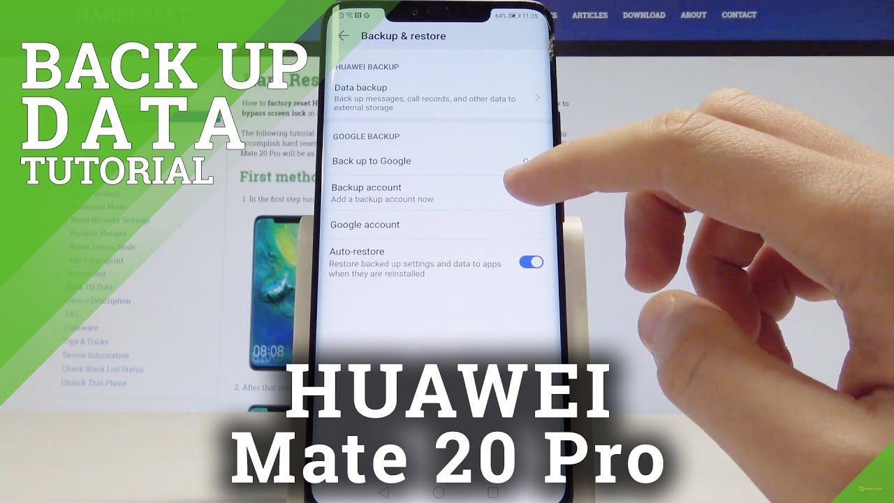 How to Back Up Data on HUAWEI Mate 20 Pro - Enable Google Backup