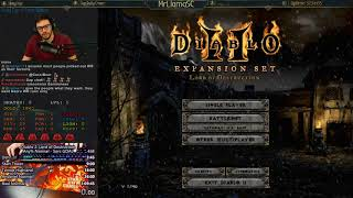 Diablo 2 - World Record Speedrunning Any% Norm Sorc Attempts (05/31/2018)