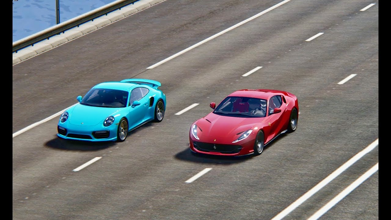 ferrari 812 superfast vs porsche 911 turbo s top speed. Black Bedroom Furniture Sets. Home Design Ideas