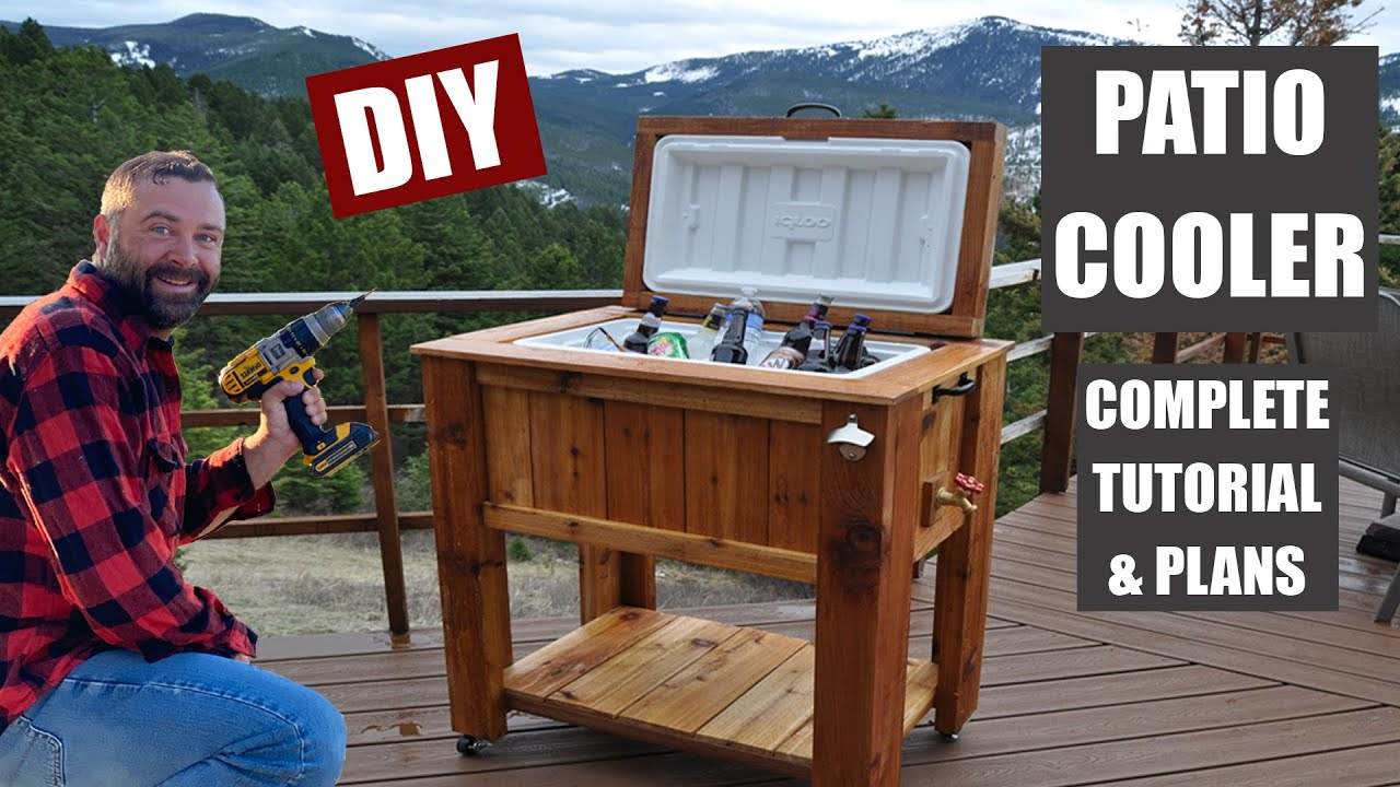 how to make a patio cooler ice chest youtube - Patio Coolers